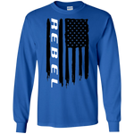 Rebel Truck 1500 American Flag Long Sleeve T-Shirt