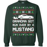 New Edge Grandma Got Run Over by a Mustang Ugly Christmas Ford Mustang Crewneck Pullover Sweatshirt 1999 2000 2001 2002 2003 2004