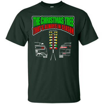 Christmas Tree Drag Light Mustang vs Camaro T-Shirt