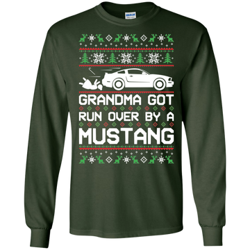 Ford Mustang S197 Ugly Christmas Grandma Got Run Over by a Mustang T-Shirt Long Sleeve 2005 2006 2007 2008 2009