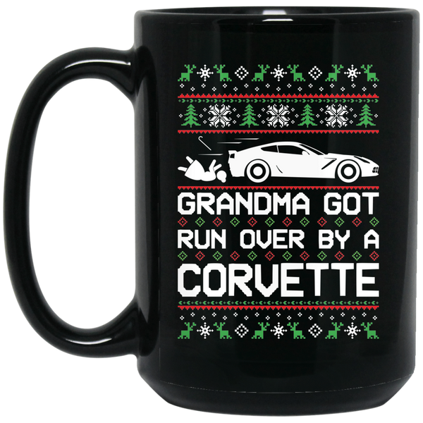 Wheel Spin Addict Corvette C7 Christmas 15 oz. Black Mug