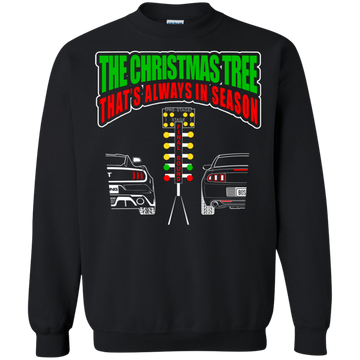 Drag Christmas Tree Crewneck Pullover Sweatshirt