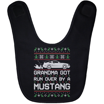 Wheel Spin Addict 2005 Mustang Christmas Baby Bib