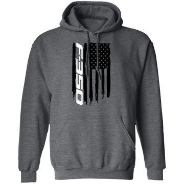 WheelSpinAddict Men's F-350 F350 Truck Super Duty Power Stroke American Flag Pullover Hoodie amz