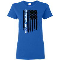 2500 LBZ 6.6 Chevy Silverado GMC Sierra American Flag Ladies' T-Shirt