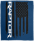 Ford Raptor F-150 American Flag Velveteen Micro Fleece Blanket - 50x60