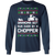 Chopper Motorcycle Ugly Christmas Grandma Got Run Over Long Sleeve T-Shirt