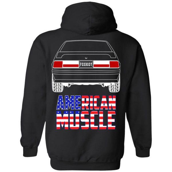 Four Eyes Foxbody American Muscle Flag Double Sided Hoodie