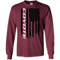 Coyote Ford Mustang 5.0 S550 S197 American Flag T-Shirt Long Sleeve