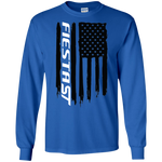 Ford Fiesta ST 1.6T Ecoboost American Flag T-Shirt Long Sleeve