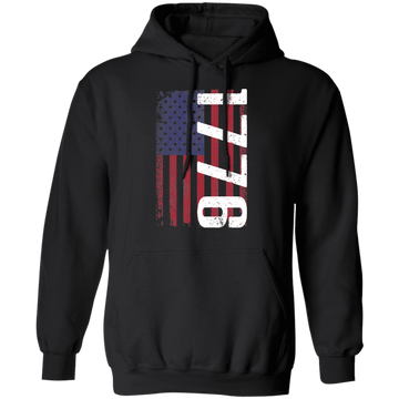 1776 American Flag USA  Pullover Hoodie