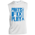Parts Fix Play Mechanic Automotive Sleeveless Performance T-Shirt