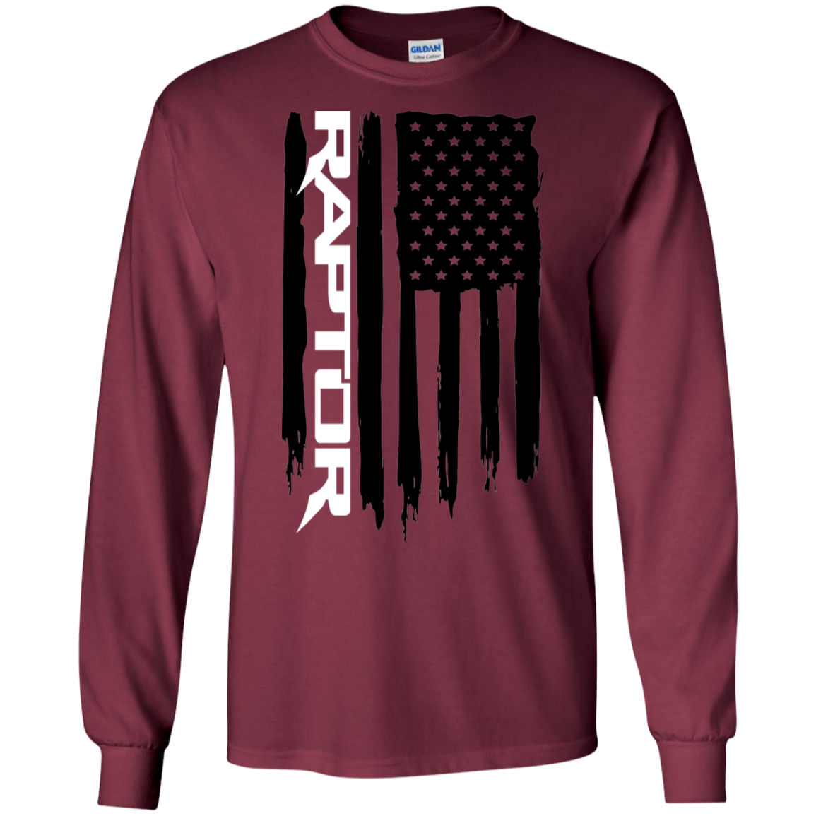 Ford Raptor F 150 6 2 3 5 Ecoboost American Flag T Shirt Long Sleeve