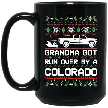 Wheel Spin Addict Colorado Truck Christmas 15 oz. Black Mug