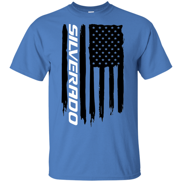 Chevy Silverado 1500 American Flag T-Shirt New