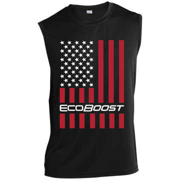 Ecoboost F-150 Mustang Fiesta ST Focus ST Explorer American Flag USA Sleeveless Performance T-Shirt