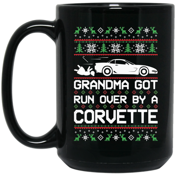 Wheel Spin Addict Corvette C5 Christmas 15 oz. Black Mug