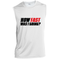 How Fast Was I Going? Racing Funny Sleeveless Performance T-Shirt