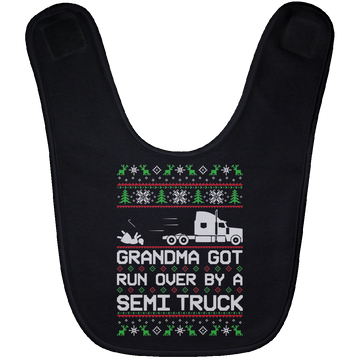 Wheel Spin Addict Semi Truck Christmas Baby Bib