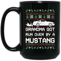 Wheel Spin Addict 2005 Mustang Christmas 15 oz. Black Mug
