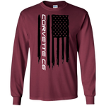 Corvette C6 American Flag Long Sleeve T-Shirt