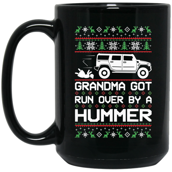 Wheel Spin Addict Hummer H2 Christmas 15 oz. Black Mug