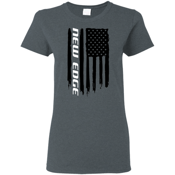 New Edge Ford Mustang 1999 2000 2001 2002 2003 2004 American Flag Ladies' T-Shirt