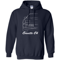 Chevy Corvette C4 Outline Pullover Hoodie