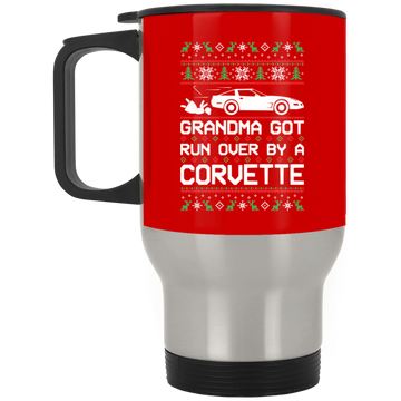 Wheel Spin Addict Corvette C4 Christmas Stainless Travel Mug