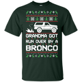 Bronco Grandma Got Run Over Ugly Christmas T-Shirt