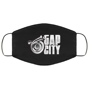 Gap City Turbo Boosted Racing American Flag Face Mask