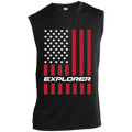 Explorer American Flag USA Sleeveless Performance T-Shirt
