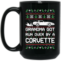 Wheel Spin Addict Corvette C4 Christmas 15 oz. Black Mug
