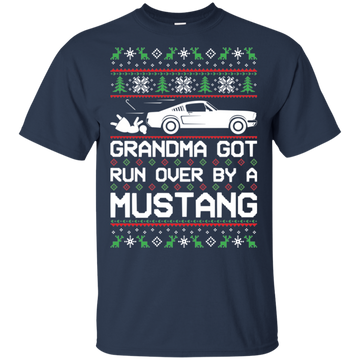 Classic Mustang Ugly Christmas Grandma Got Run Over T-Shirt