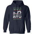 ATV 4-Wheeler Ugly Christmas Grandma Got Run Over Pullover Hoodie
