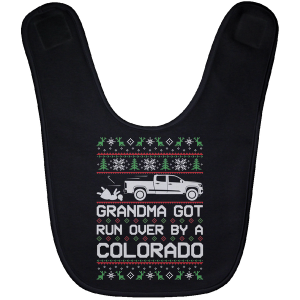 Wheel Spin Addict Colorado Truck Christmas Baby Bib