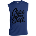 Clutch and Shift. Racing Manual Stick Shift Sleeveless Performance T-Shirt