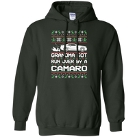 Chevy Camaro 5th Gen Grandma Got Run Over Ugly Christmas Pullover Hoodie