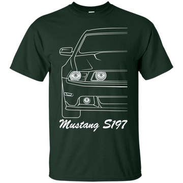 Ford Mustang S197 Outline T-Shirt 2010 2011 2012 2013 2014