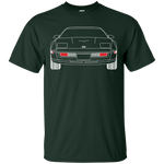C4 Corvette Outline Double Sided American Muscle T-Shirt