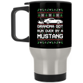 Wheel Spin Addict Mustang New Edge Christmas Stainless Travel Mug