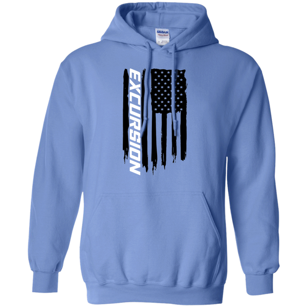 Ford Excursion 7.3 Diesel Triton V10 American Flag Pullover Hoodie