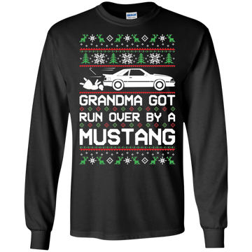 Foxbody Grandma Got Run Over by a Mustang Cotton T-Shirt Long Sleeve