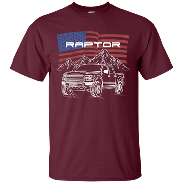 Ford F-150 Raptor American Flag T-Shirt