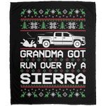 Wheel Spin Addict Christmas GMC Sierra Fleece Blanket - 50x60