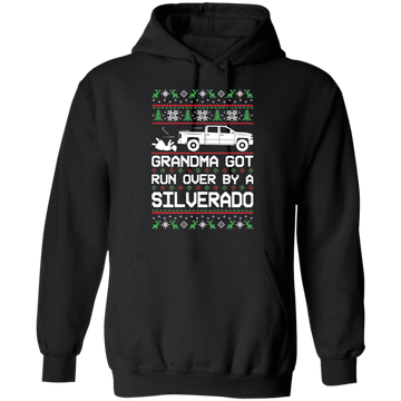 Chevy Silverado 2014-2018 Ugly Christmas Grandma Got Run Over Pullover Hoodie