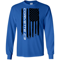 Corvette C3 American Flag Long Sleeve T-Shirt