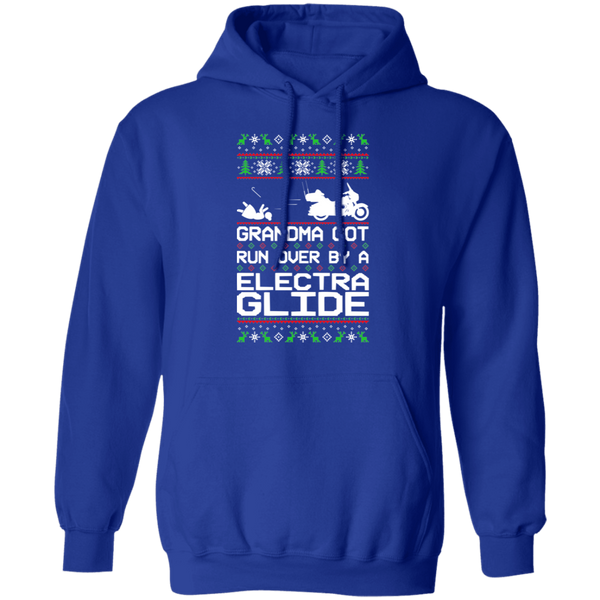 Electra Glide Motorcycle HD Ugly Christmas Grandma Got Run Over Pullover Hoodie
