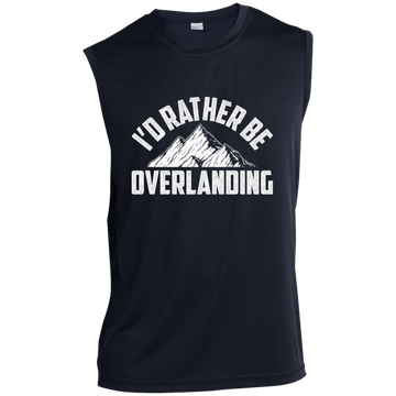 I'd Rather Be Overlanding Off-Road 4x4 Sleeveless Performance T-Shirt