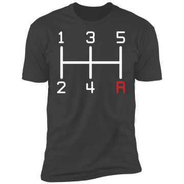5-Speed Manual Stick Shift Premium Short Sleeve T-Shirt